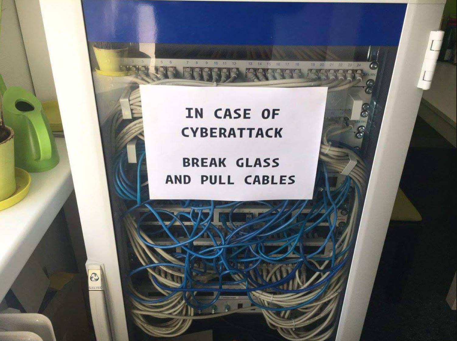 In case of cyberattack: Break glass and pull cables